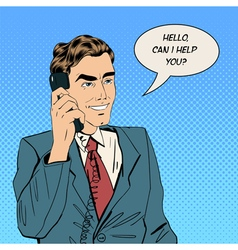 Businessman Speaking on the Phone at Office vector image