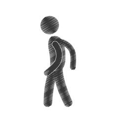 drawing man standing posing figure pictogram vector image