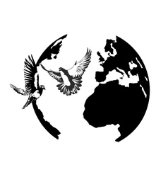 earth and the doves vector image vector image