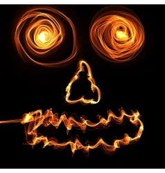 fire face vector image