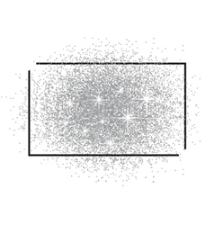 Frame for text and a scattering of silver sand vector image vector image