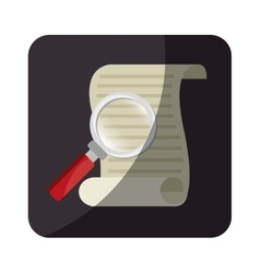 justice document isolated icon vector image