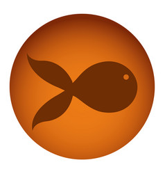 orange emblem fish icon vector image