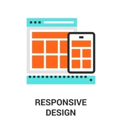 responsive design icon vector image vector image