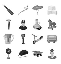 weapons food parking and other web icon in vector image vector image