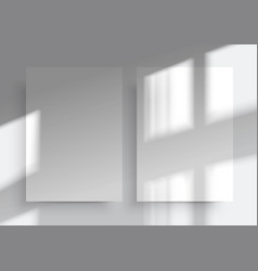 a4 paper mockups overlay shadow from window vector image