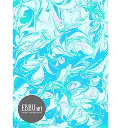 abstract ebru backgroundBlue and pink vector image
