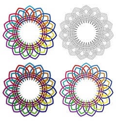 Abstract ornamental shapes vector