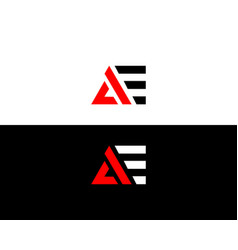 Ae logo initial letters design vector