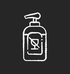 Alcohol free sanitizer chalk white icon on black vector