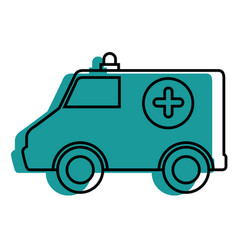 Ambulance medical vehicle vector