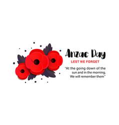 Anzac day card vector