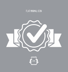 Approval check - flat minimal icon vector