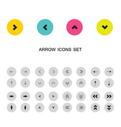 arrow sign icon buttons set vector image