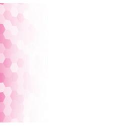 Banner pink random square mosaic tiles vector