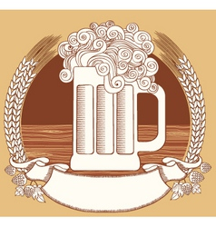 Beer symbolvector graphic illustration of glass wi vector