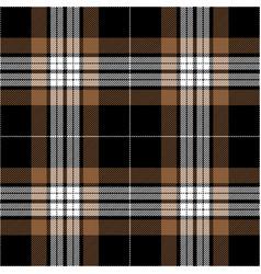 black and brown tartan plaid seamless pattern vector image