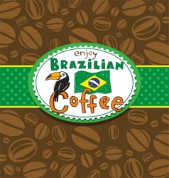 Brazilian coffee background vector image vector image