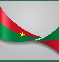 Burkina faso wavy flag vector