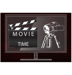 camera and movie clapperboard vector image
