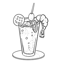 Cartoon image of weird cocktail vector