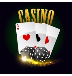 Casino poster Cards dices vector