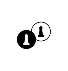 chess icon element of chess for mobile concept vector image