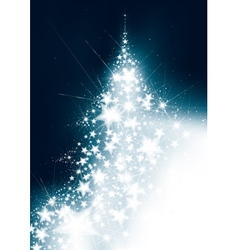Christmas tree card vector