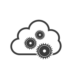 cloud computing data center isolated icon vector image