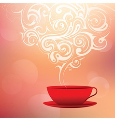Coffee with tribal smoke vector