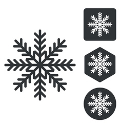 Cold icon set monochrome vector