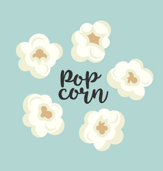 colorful popcorn items cute set vector image