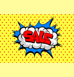 comic speech bubble with text sale layout vector image