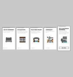 Concrete production onboarding icons set vector
