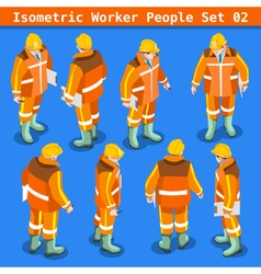 Construction 02 People Isometric vector