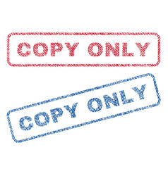Copy only textile stamps vector