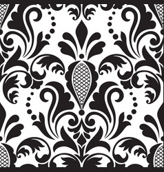 Damask seamless pattern element classical luxury vector