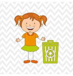 Ecologically kids design vector image