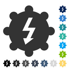 electricity cog wheel icon vector image