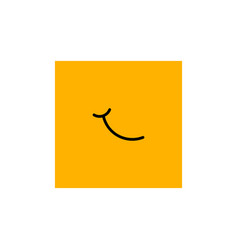 emoticon face symbol or sign collection vector image