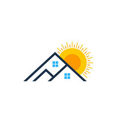 Estate sun logo icon design vector