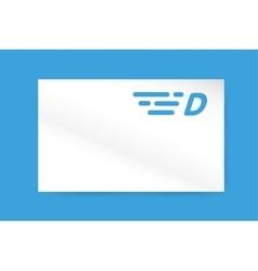 Fast line letter D logo monogram vector