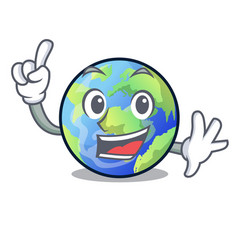 finger earth isolated with in the cartoons vector image