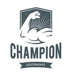Fitness champion equipments image vector