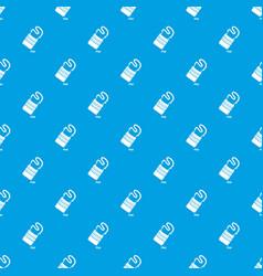 flat bag pattern seamless blue vector image
