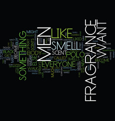 Fragrance for men text background word cloud vector