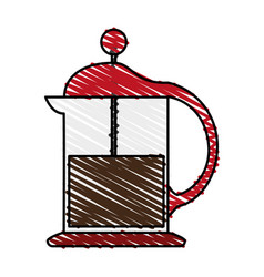 French press coffee related icon image vector
