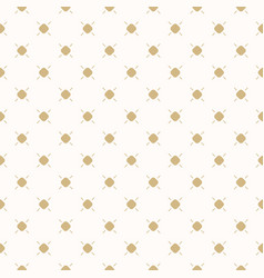 golden dots seamless pattern small circles lines vector image