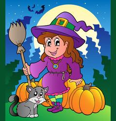 Halloween character scene 4 vector