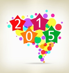 Happy new year background star colorful vector